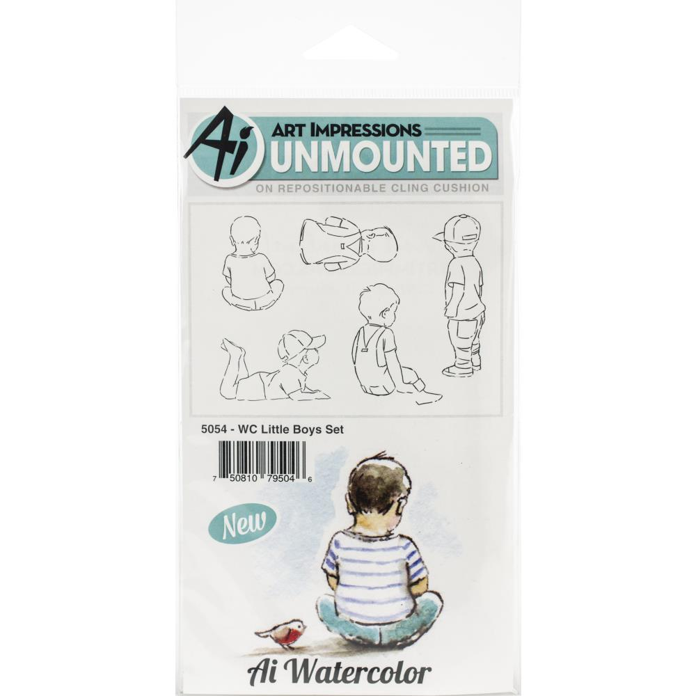 ^Art Impressions - Watercolor Stamps - Little Boys (5054)