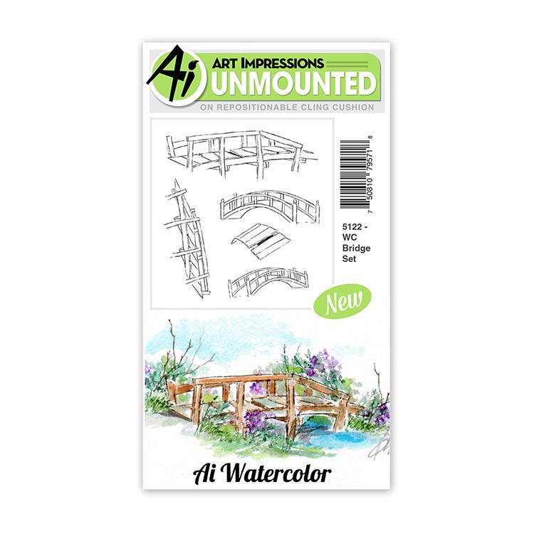 AI -  Watercolor Stamps - Bridge Set - 5122