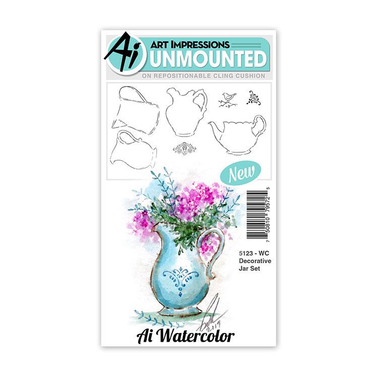 AI -  Watercolor Stamps - Decorative Jar Set - 5123