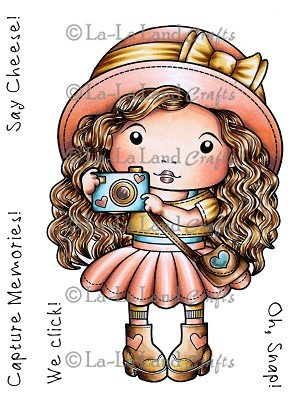 ^La La Land Crafts - Marci with Camera Cling Stamp