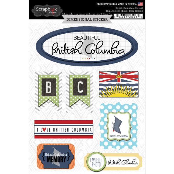 ^Scrapbook Customs Dimensional Stickers British Columbia