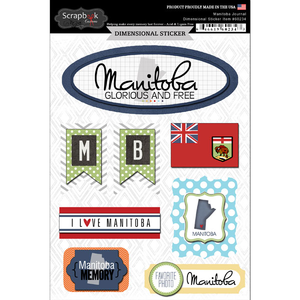 ^Scrapbook Customs Dimensional Stickers Manitoba