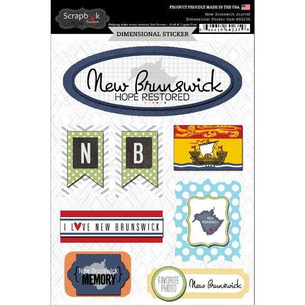 ^Scrapbook Customs Dimensional Stickers New Brunswick