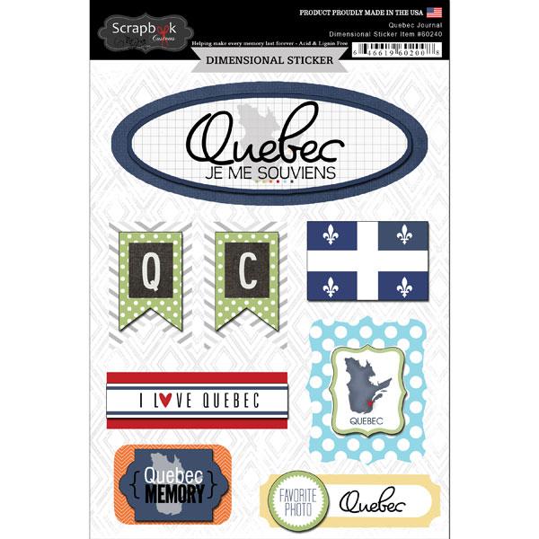 ^Scrapbook Customs Dimensional Stickers Quebec