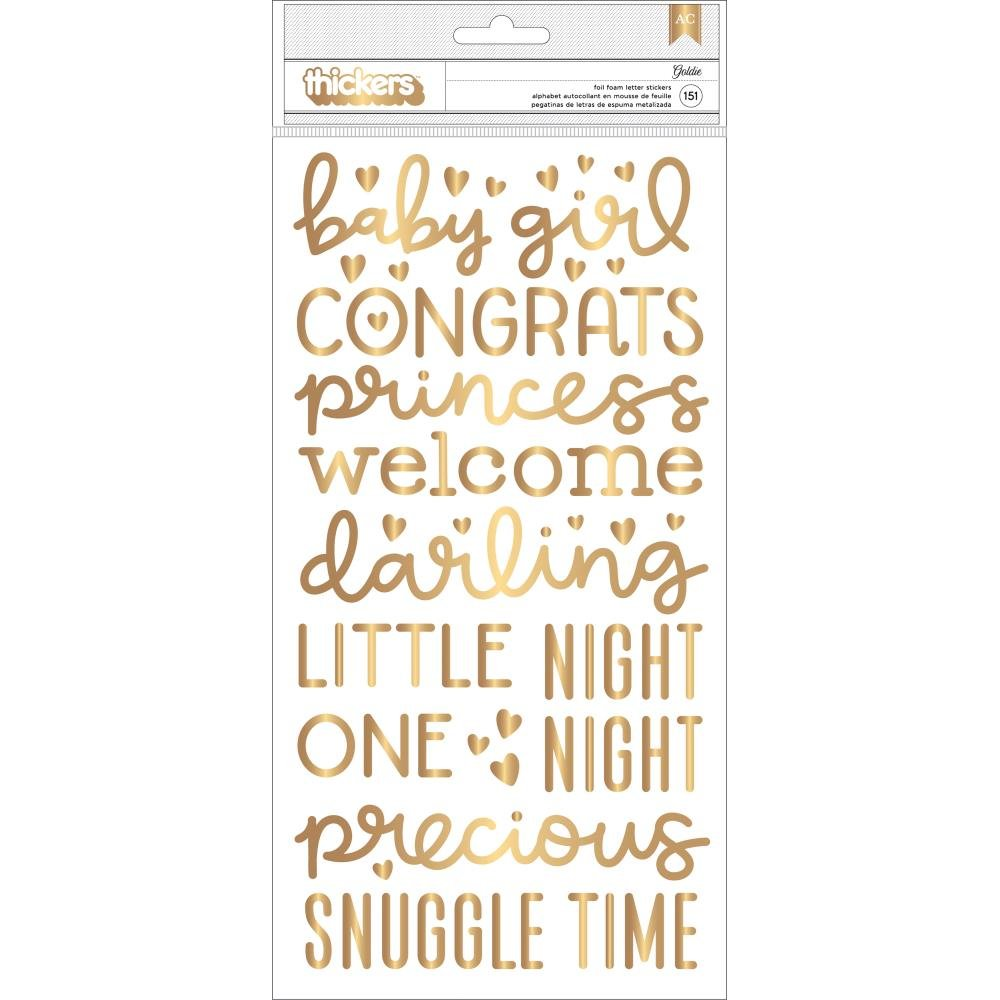 Thickers - Goldie Foil Foam Word Stickers