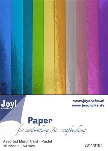 Mirror Cardstock - Pastel Colour Assortment, A4, 10 Sheets/Pack (Joy! Crafts)