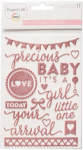 ^Baby Girl - Puffy Stickers with Glitter (Project Life)