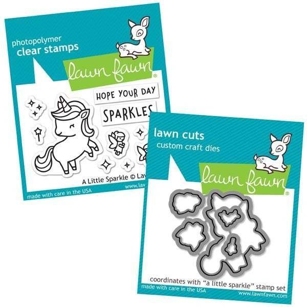 Lawn Fawn - A Little Sparkle Stamp and Die Combo