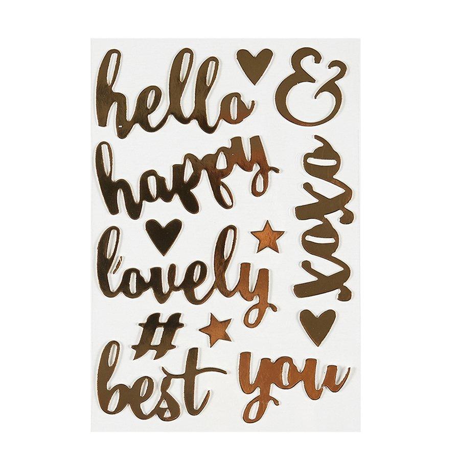 ^Lovely Words Chipboard Word Stickers (FSJ)