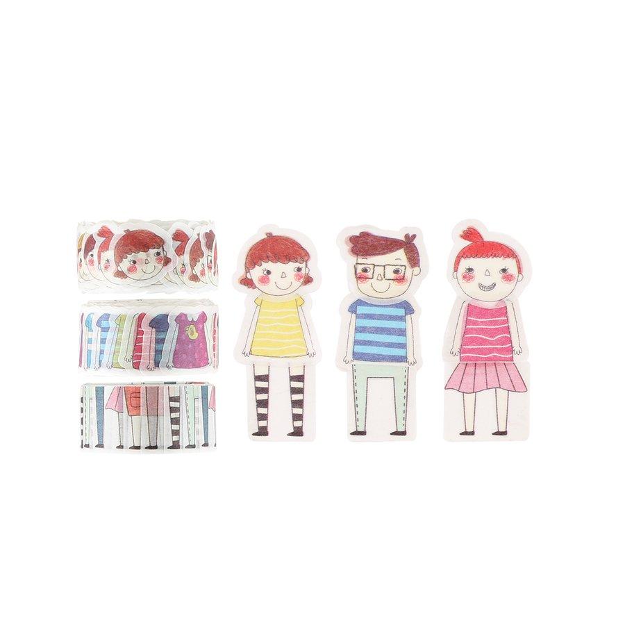 ^Colourful Friends Washi Tape, 3/pkg (FSJ)