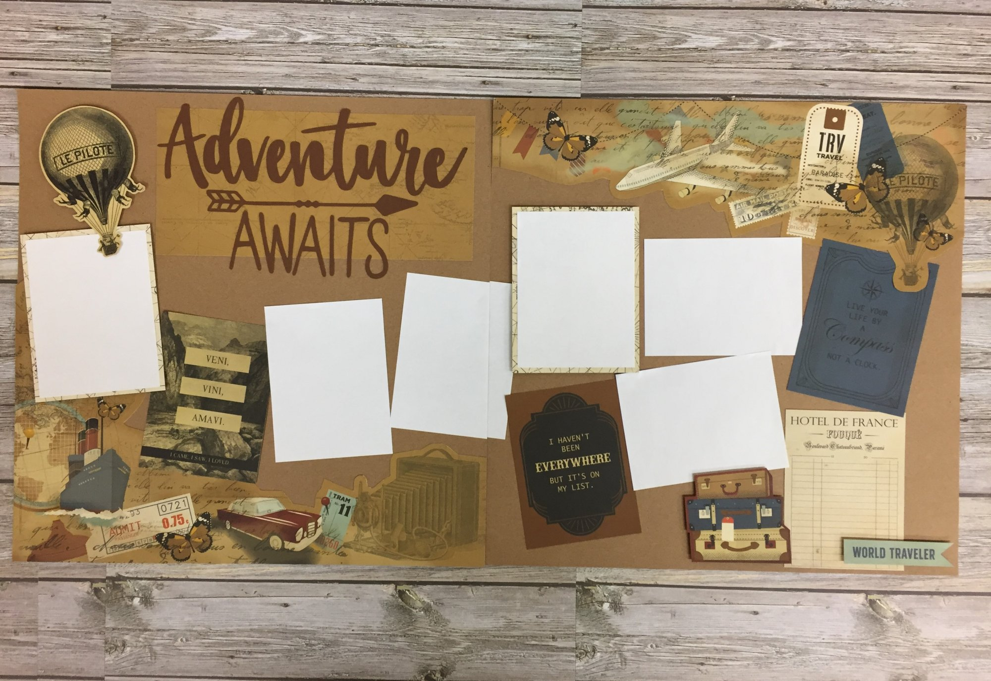 Adventure Awaits Layout Kit