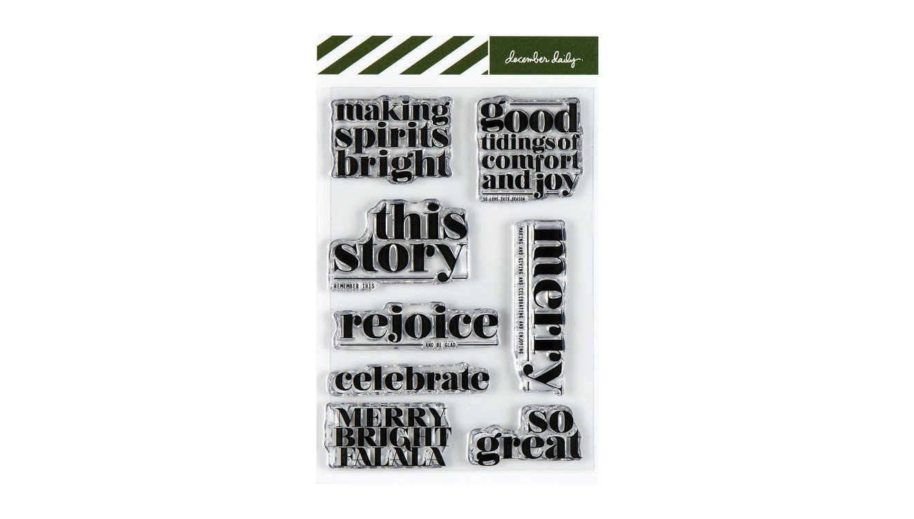 Ali Edwards December Daily - Making Spirits Bright Stamp Set