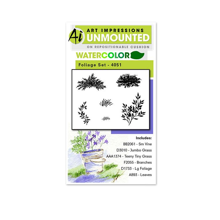 AI -  Watercolor Stamps - Foliage Set 1 (4051)