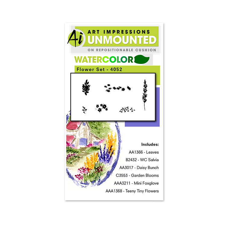 AI -  Watercolor Stamps - Flower Set 1 (4052)