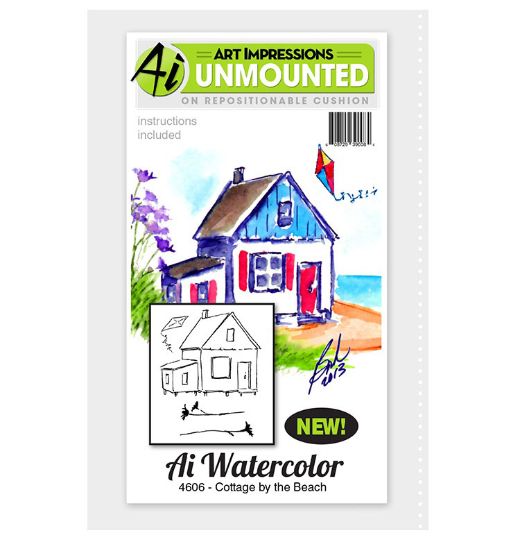 ^AI - Watercolor Stamp Set - Cottage by the Beach (4606)