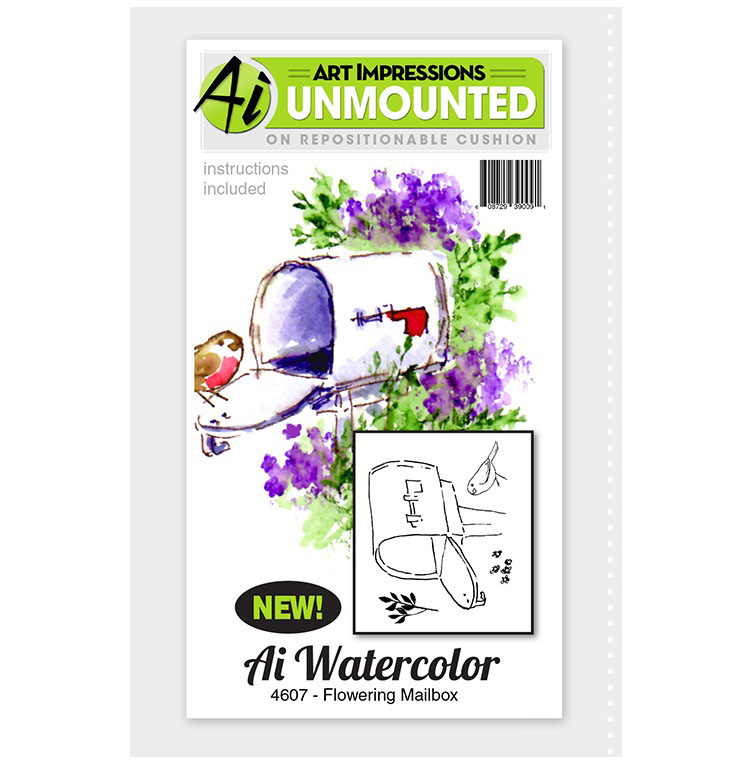 AI - Watercolor - Flowering Mailbox Stamp Set (4607)