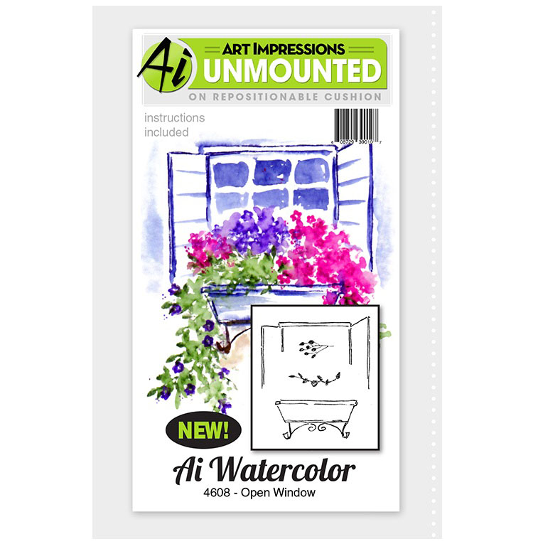 AI - Watercolor - Open Window Stamp Set (4608)