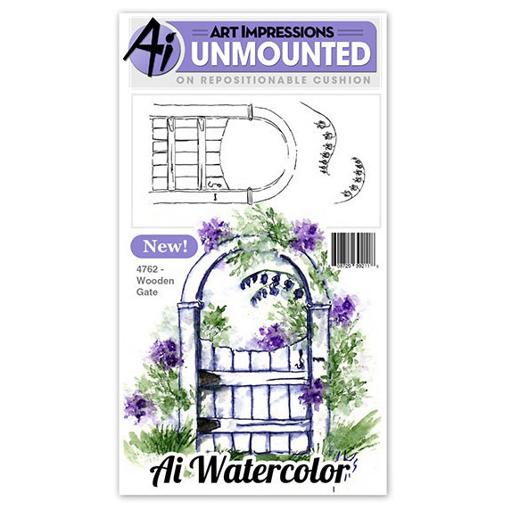 AI - Watercolor - Wooden Gate Stamp Set (4762)