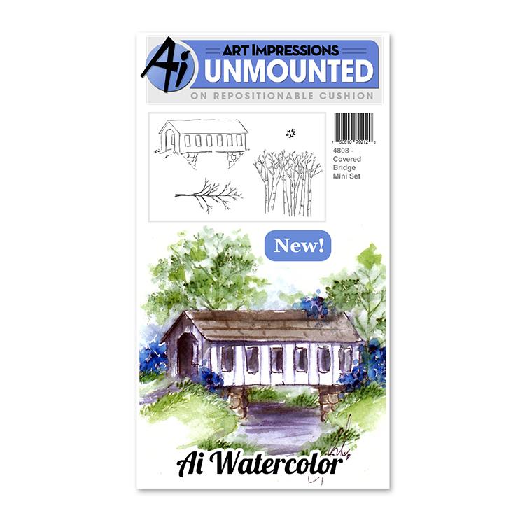 AI - Watercolor - Covered Bridge Mini Stamp Set (4808)
