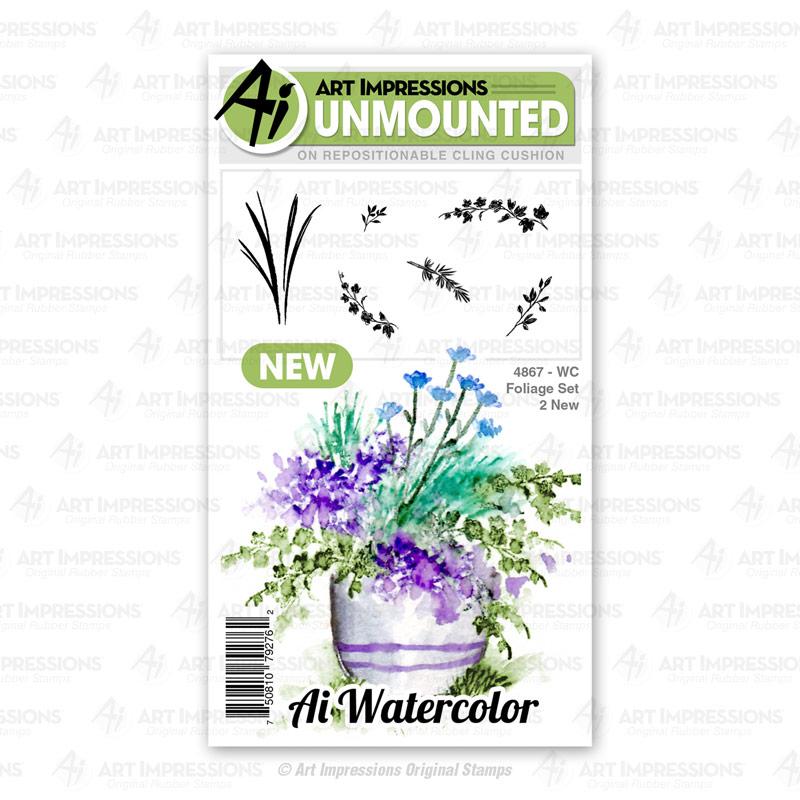 AI -  Watercolor Stamps - Foliage Set (4867)