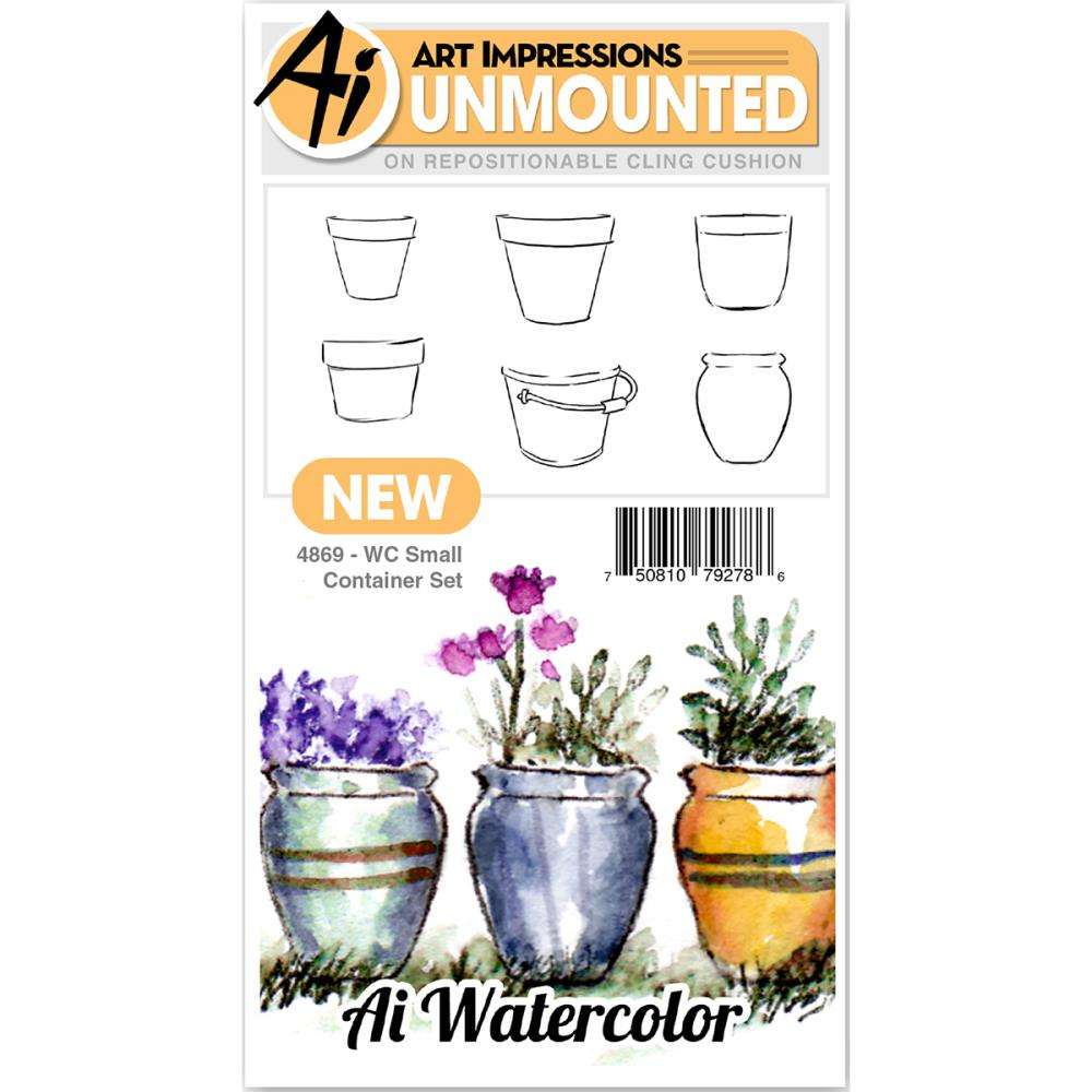 AI -  Watercolor Stamps - Small Container Set (4869)