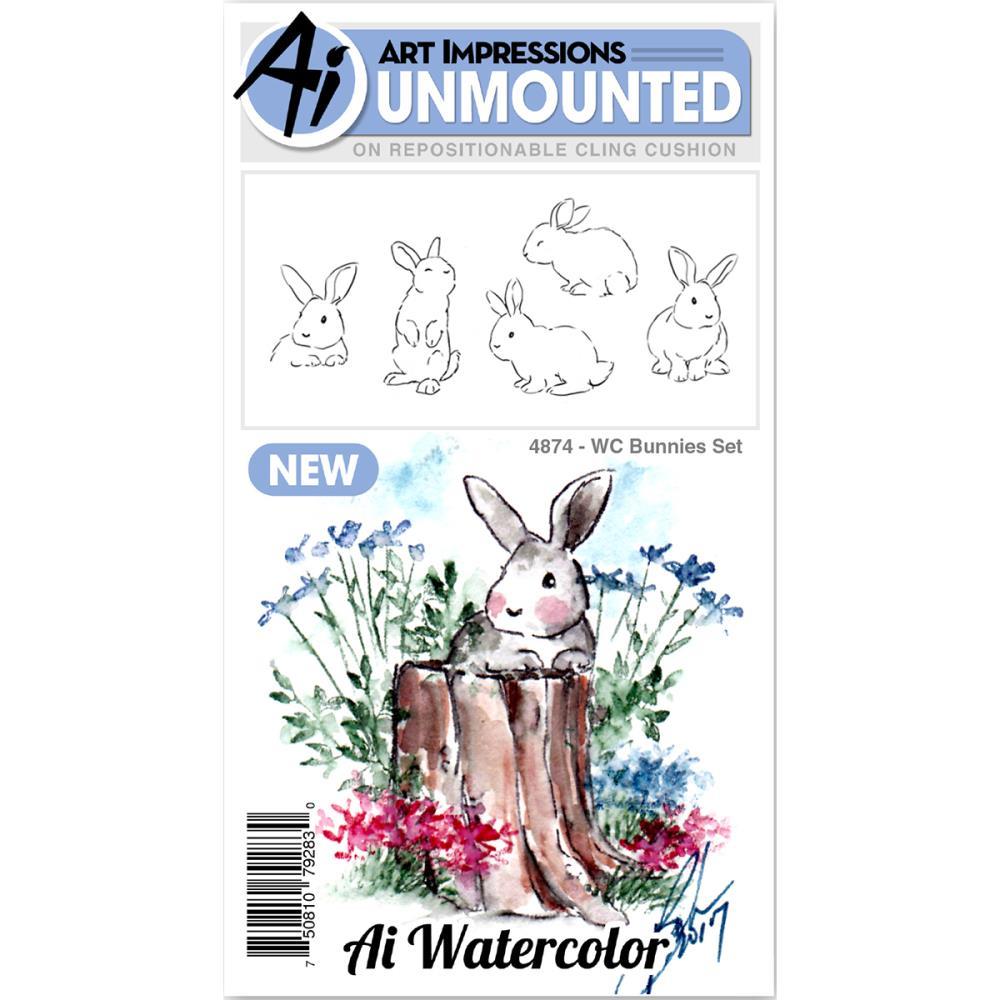 AI - Watercolor Stamp Set - Bunnies (4874)