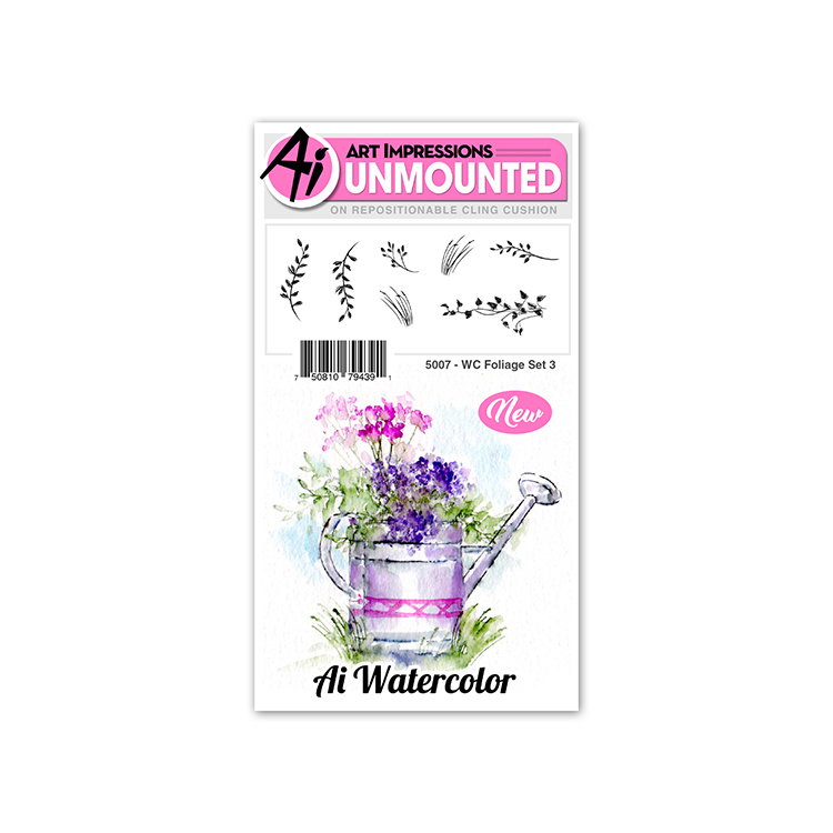 AI - Watercolor - Foliage Set 3 Stamp Set (5007)