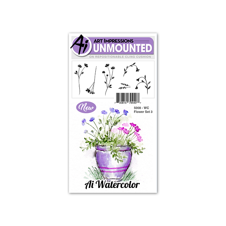 AI -  Watercolor Stamps - Flower Set 3 (5008)
