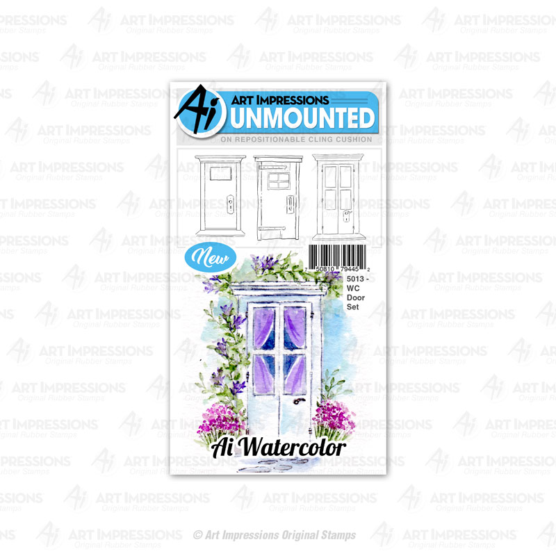 AI -  Watercolor Stamps - Door Set 5013