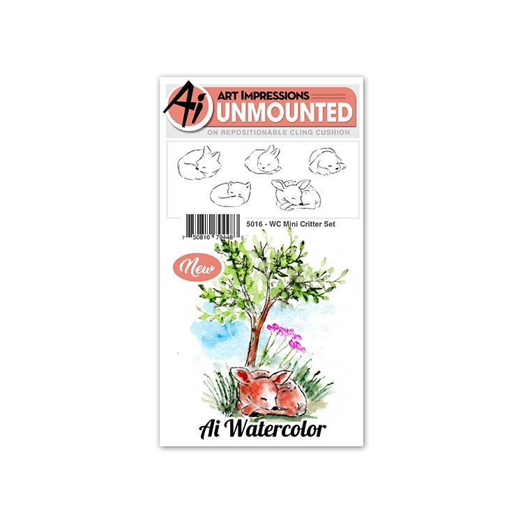 AI - Watercolor - Mini Critter Stamp Set (5016)