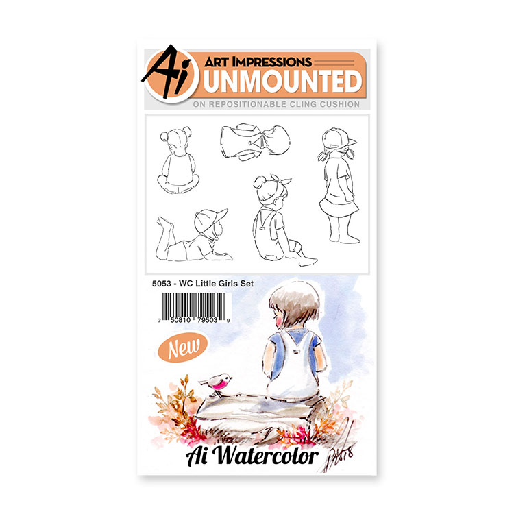 AI -  Watercolor Stamps - Little Girls Set (5053)