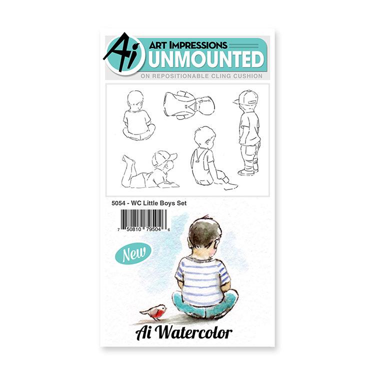 AI -  Watercolor Stamps - Little Boys Set (5054)