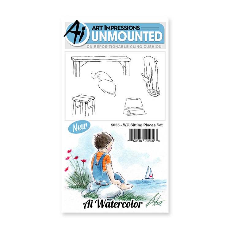 AI -  Watercolor Stamps - Sitting Places Set