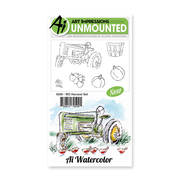 AI -  Watercolor Stamps - Harvest Set (5059)
