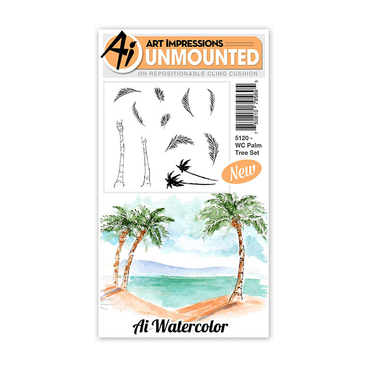 AI -  Watercolor Stamps - Palm Tree Set (5120)