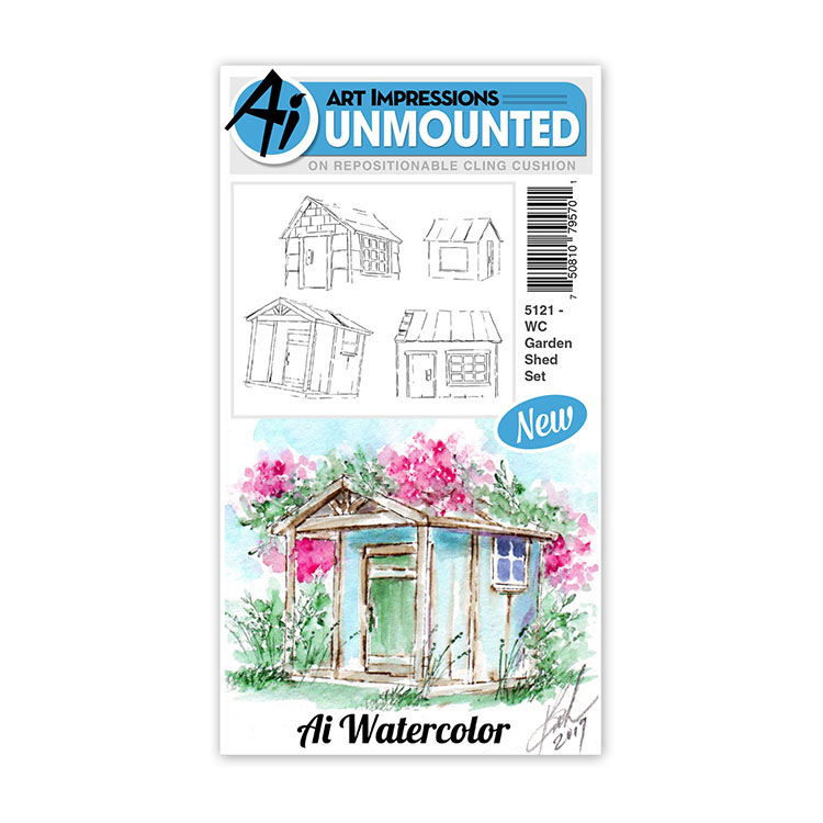 AI -  Watercolor Stamps - Garden Shed Set (5121)