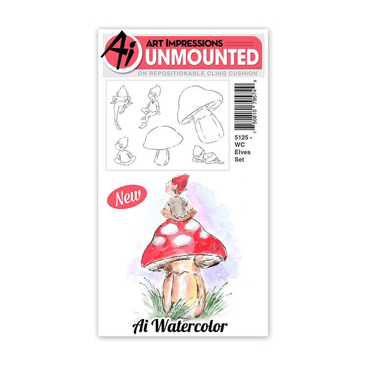 AI -  Watercolor Stamps - Elves Set (5125)