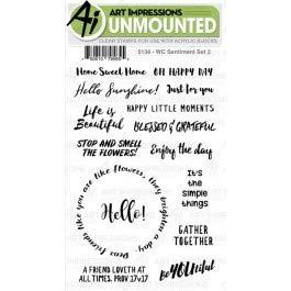 AI -  Watercolor Stamps - Sentiment Set 2 (5136)