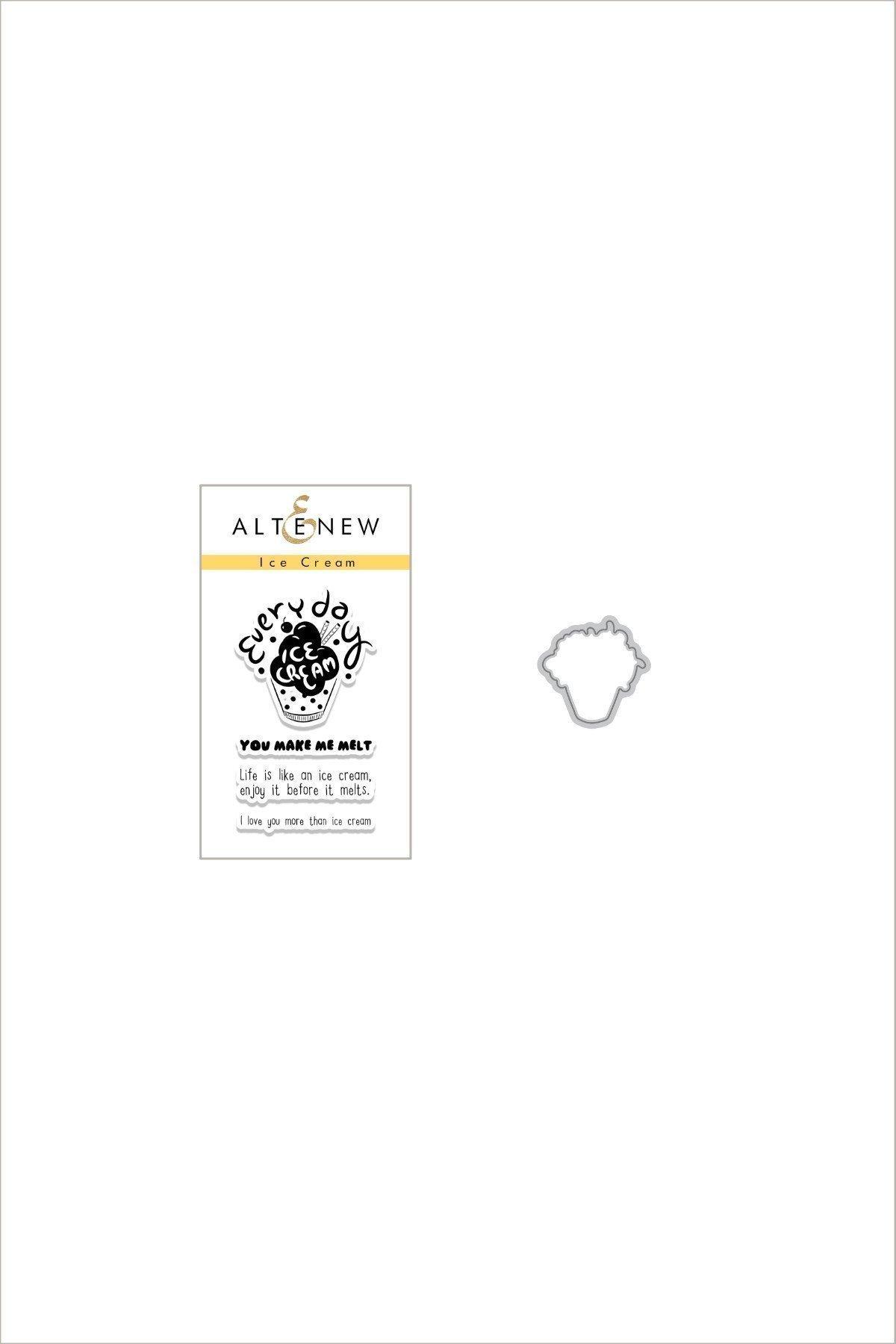 Altenew - Ice Cream Stamp & Die Bundle