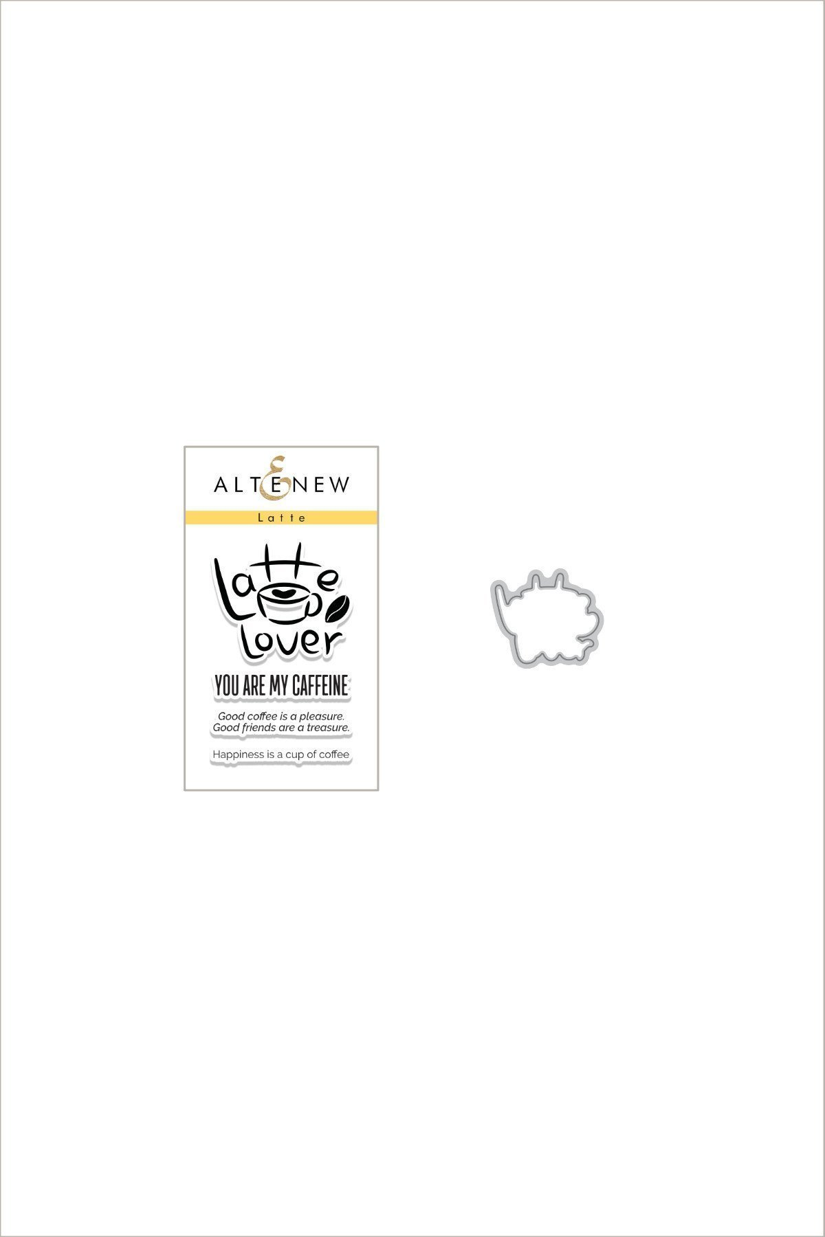 Altenew - Latte Lover Stamp & Die Bundle