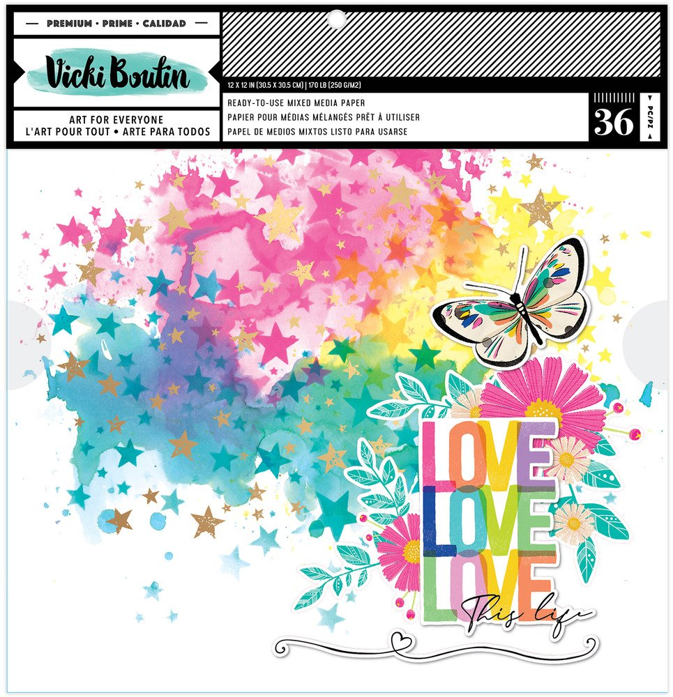 Vicki Boutin - Color Study - 12x12 Background Paper Pad (Pre-Order)