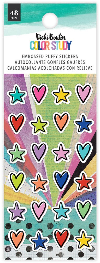 Vicki Boutin - Color Study - Embossed Puffy Stickers (Pre-Order)