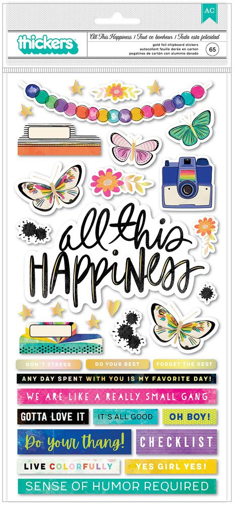 Vicki Boutin - Color Study - All This Happiness Thickers Stickers (Pre-Order)