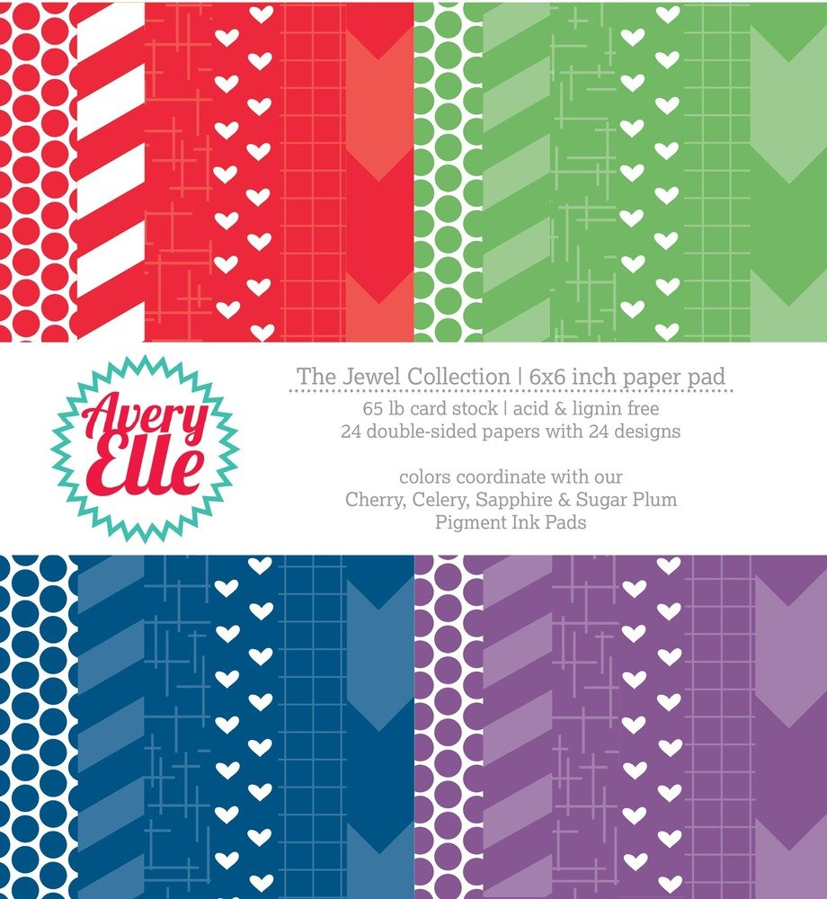 Avery Elle Jewel Collection - 6x6 Paper Pad