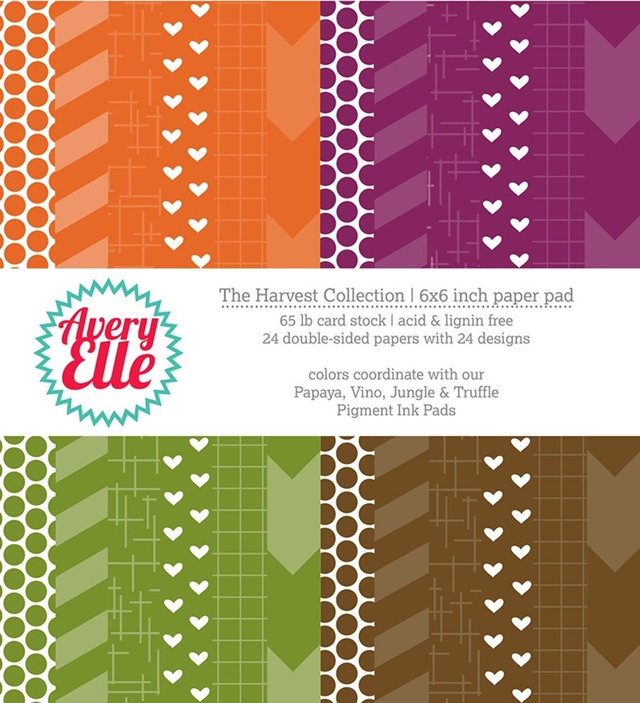 Avery Elle Harvest Collection - 6x6 Paper Pad