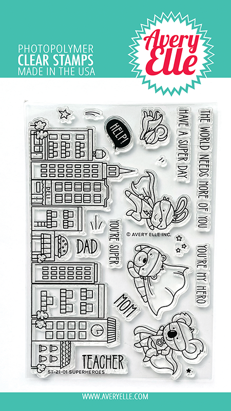 Avery Elle - Clear Stamps - Superheroes