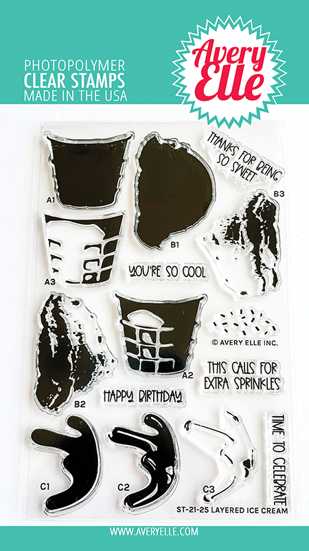 Avery Elle - Clear Stamps - Layered Ice Cream