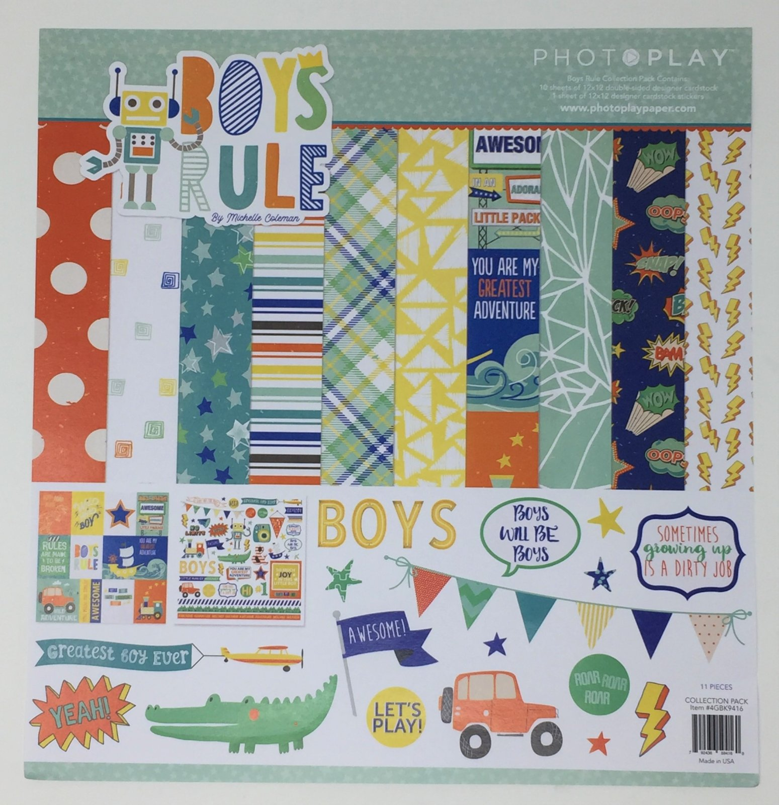 ^PhotoPlay Boys Rule - 12x12 Value Collection Pack