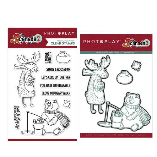 PhotoPlay O Canada 2 - Moose & Bear Stamp and Die Bundle