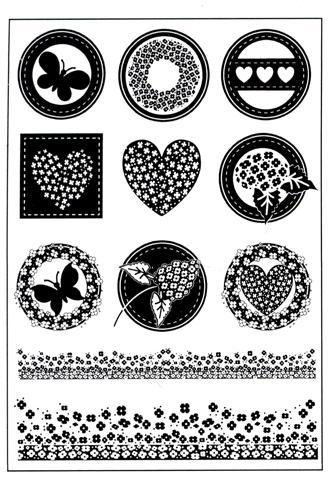 Joy Crafts Clear Stamps - Button Sayings